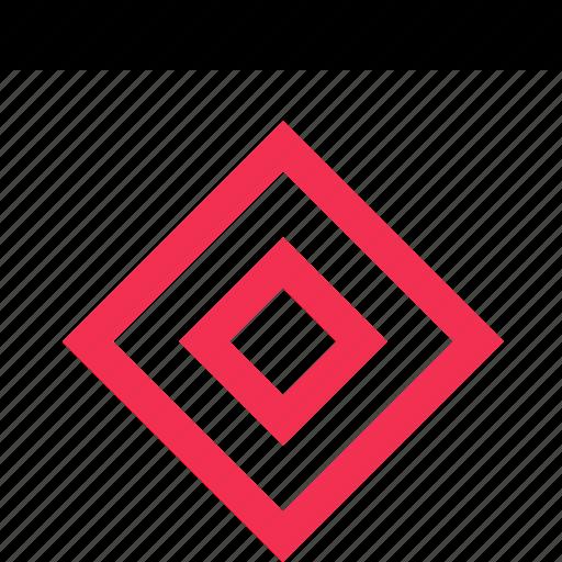 cube, eye, watch icon