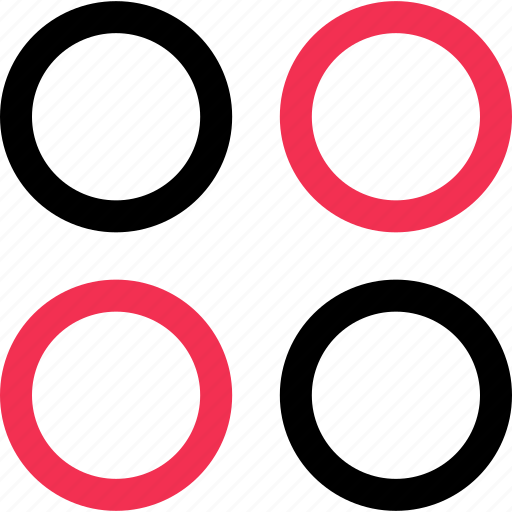 design, dots, four icon
