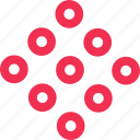 dots, multiple, nine icon