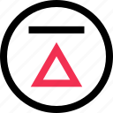 high, triangle, up icon