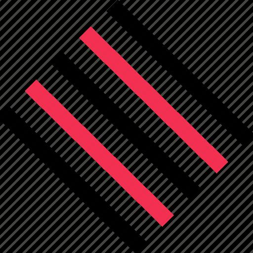 diagnol, lines, scratch icon