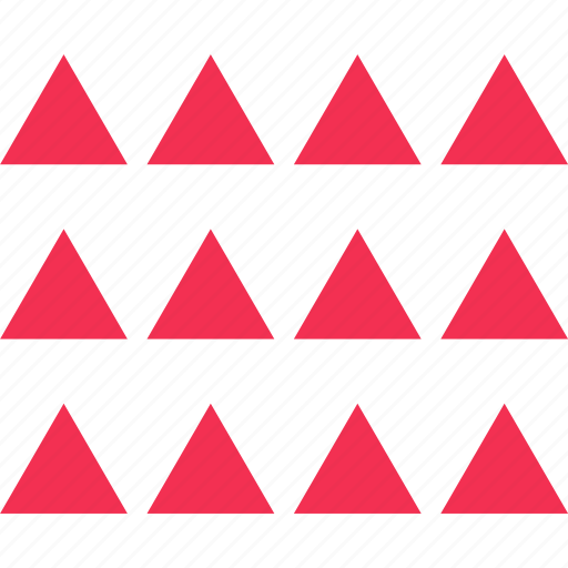 many, pattern, patterns, triangles icon