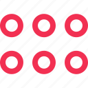 abstract, dots, nine icon