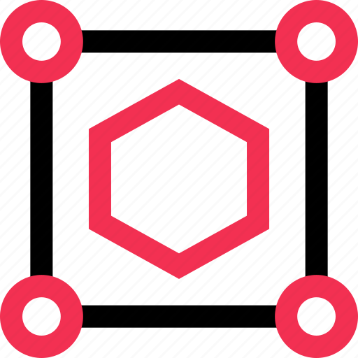 cool, hex, hexagon, scale icon