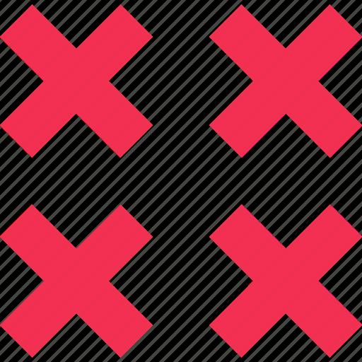 stop, ui, ux, x icon