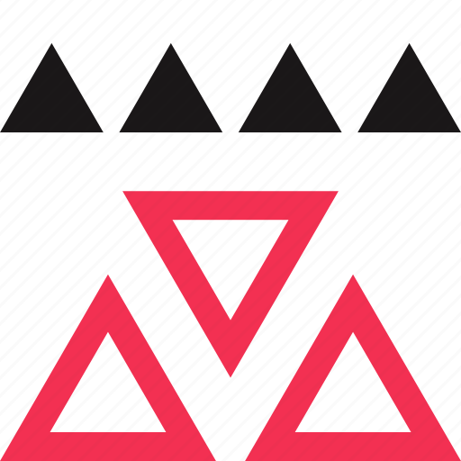 assort, assorted, triangles icon
