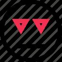 down, line, triangles icon