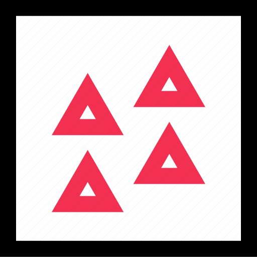 assorted, multiple, triangles icon