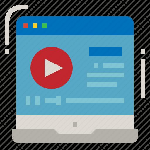 advertisement, advertising, maker, marketing, video icon