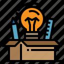 computer, creative, design, idea, thinking icon