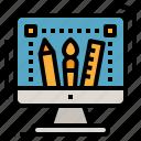 deign, program, service, stationary, tools icon
