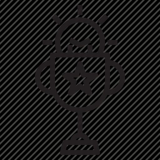 bulb, creative, goals, light, line, table icon