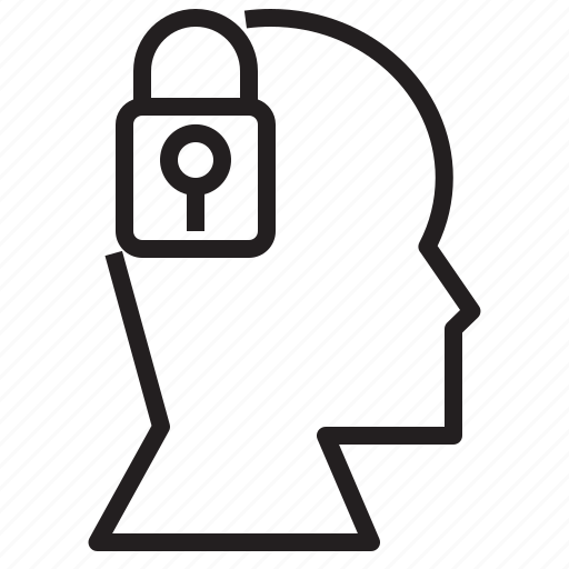 avatar, business, human, lock, person, protect, protection icon