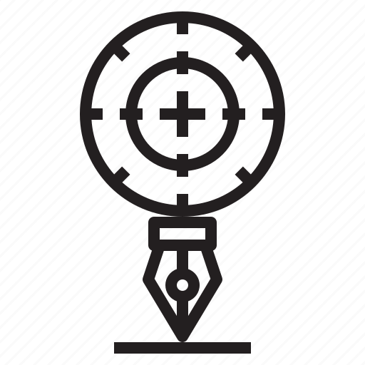 art, design, draw, goal, pen, target icon