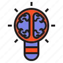brain, bulb, business, candle, light, lightbulb icon
