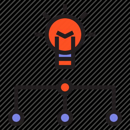 analysis, bulb, chart, growth, idea, lamp, light icon
