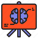 board, brain, chart, head, plan, presentation icon