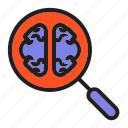 brain, in, mind, thinking, view, zoom icon