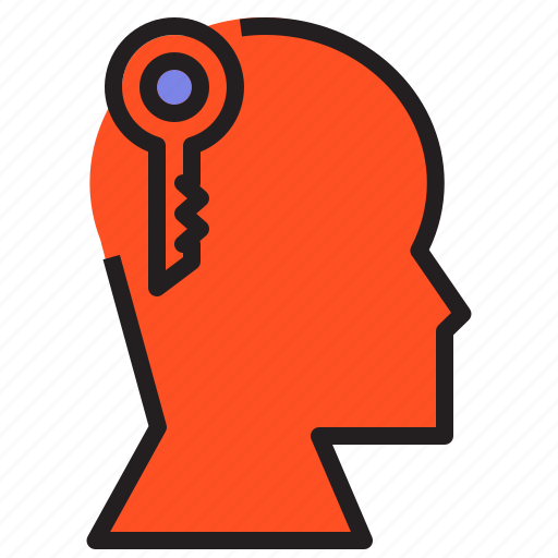 human, key, password, person, protect, secure, shield icon