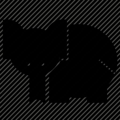 animal, art, creative, design, elephant, forest, wild icon