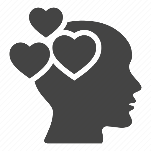 head, hearts, like, love, loving, romantic icon