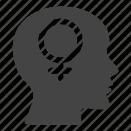 female, gender, girl, head, person, woman, women icon