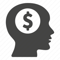 business, coin, creative, currency, dollar, head, money icon