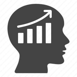 brain, business, chart, finances, head, presentation, statistics icon