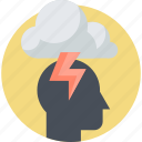 brainstorming, creativity, flat design, idea, innovation, people icon