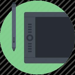 board, design, digital, drawing, flat design, illustration, tablet icon