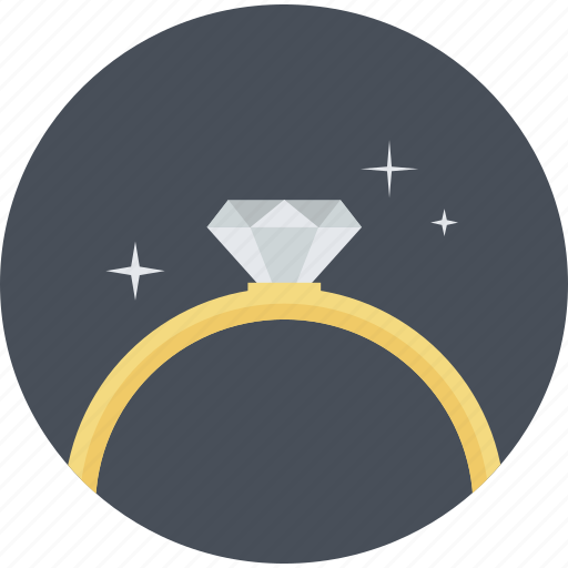excellence, flat design, jewelry, premium, quality, ring, round icon