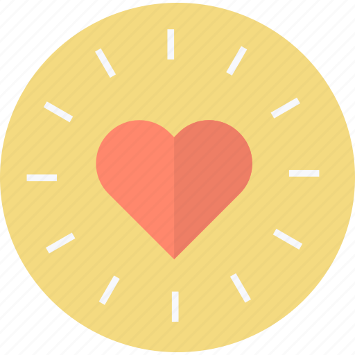 favorite, flat design, heart, round icon