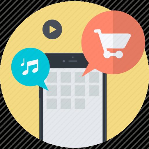 apps, design, development, flat design, mobile, round, seo icon