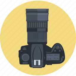 camera, design, flat design, gallery, photo editor, photography, round icon