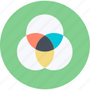 color, design, flat design, management, print, round icon