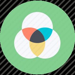 color, design, flat design, management, print, round icon