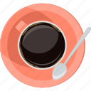 break, coffee, flat design, pause, rest, round icon