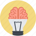 brainstorming, design, flat design, idea, innovation, marketing, thinking icon