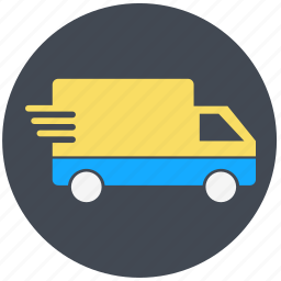 delivery, logistics, shippinng, transportation, truck, van, vehicle icon