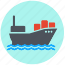 boat, delivery, logistics, merchant navy, ship, shipping, transportation icon