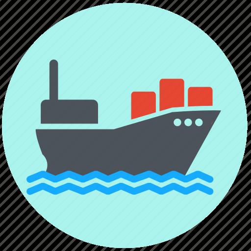 boat, delivery, logistics, merchant navy, ship, shipping, transportation icon