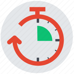clock, delivery time, hour, schedule, stopwatch, turnout time, wait icon