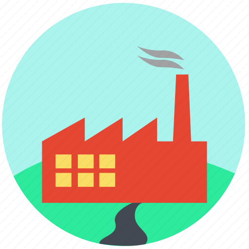 company, factory, mill, office, production unit, work icon