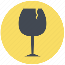 article, damage, goods, hazard, problem, product damage, wine glass icon