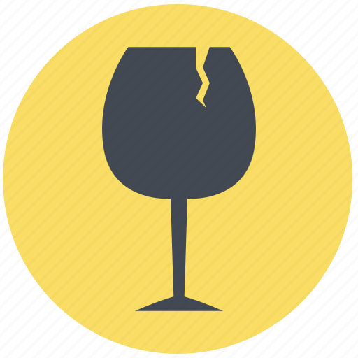 article, damage, goods, hazard, problem, product damage, wine glass icon