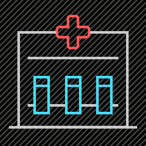 health care, medical, medical box, medical kit, test tube box icon