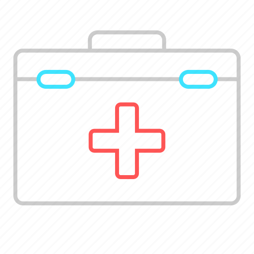 first aid, first aid bod, health care, medical, suitcase icon