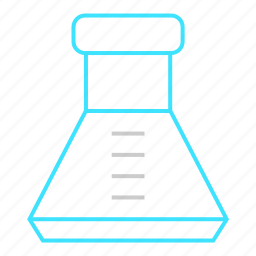 chemistry, conical flask, container, lab, laboratory, test icon