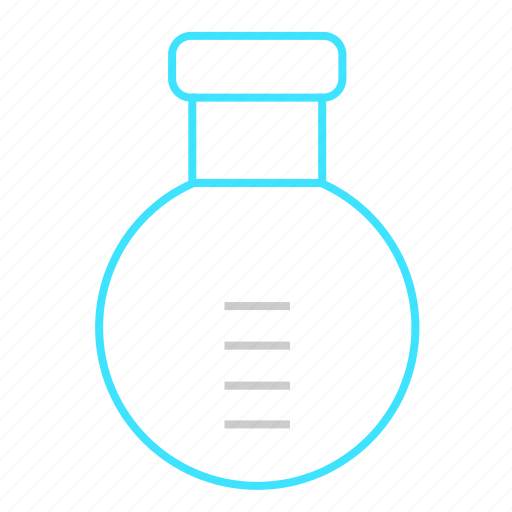 chemistry, container, lab, laboratory, round flask, test icon