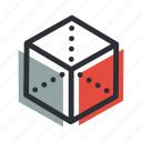 box, corner, creative, cube, design, development, digital icon